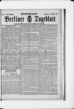 Berliner Tageblatt und Handels-Zeitung vom 15.09.1888