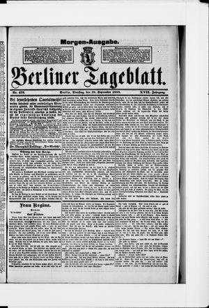 Berliner Tageblatt und Handels-Zeitung vom 18.09.1888
