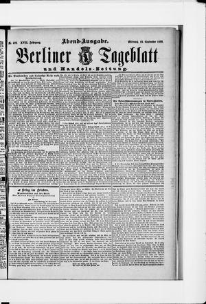 Berliner Tageblatt und Handels-Zeitung vom 19.09.1888