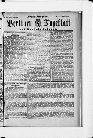 Berliner Tageblatt und Handels-Zeitung vom 20.09.1888