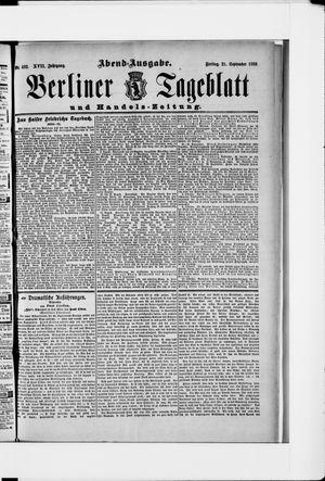 Berliner Tageblatt und Handels-Zeitung vom 21.09.1888