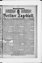 Berliner Tageblatt und Handels-Zeitung (22.09.1888)