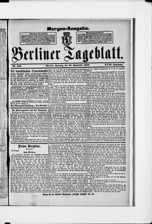 Berliner Tageblatt und Handels-Zeitung vom 23.09.1888