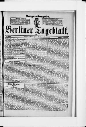 Berliner Tageblatt und Handels-Zeitung vom 25.09.1888