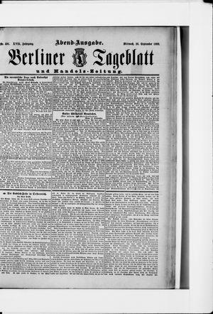 Berliner Tageblatt und Handels-Zeitung vom 26.09.1888