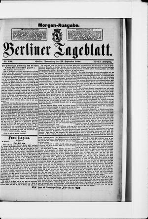 Berliner Tageblatt und Handels-Zeitung vom 27.09.1888