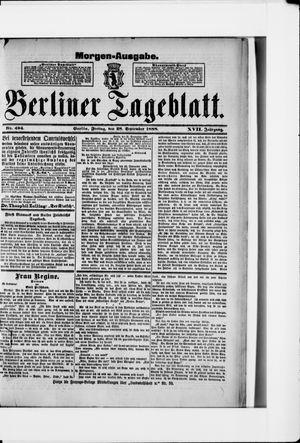 Berliner Tageblatt und Handels-Zeitung vom 28.09.1888