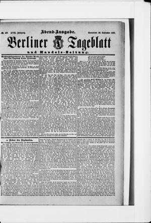 Berliner Tageblatt und Handels-Zeitung vom 29.09.1888