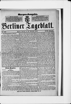 Berliner Tageblatt und Handels-Zeitung vom 30.09.1888