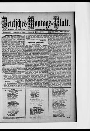 Berliner Tageblatt und Handels-Zeitung vom 01.10.1888