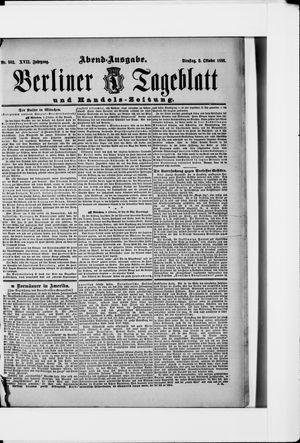 Berliner Tageblatt und Handels-Zeitung vom 02.10.1888