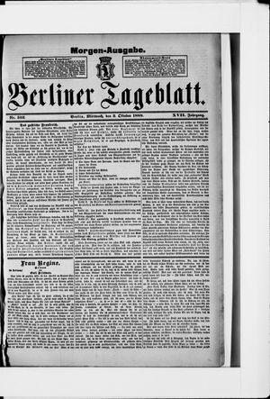 Berliner Tageblatt und Handels-Zeitung vom 03.10.1888