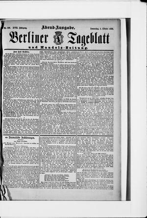 Berliner Tageblatt und Handels-Zeitung vom 04.10.1888