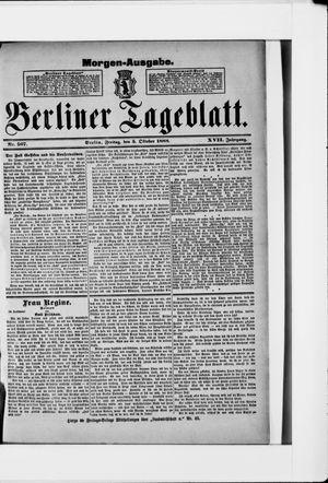 Berliner Tageblatt und Handels-Zeitung vom 05.10.1888
