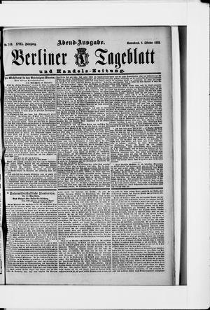 Berliner Tageblatt und Handels-Zeitung vom 06.10.1888