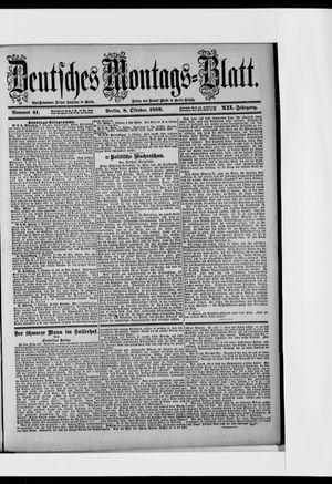 Berliner Tageblatt und Handels-Zeitung vom 08.10.1888