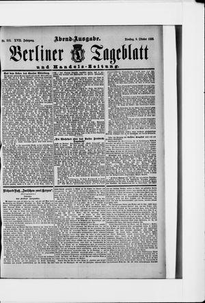 Berliner Tageblatt und Handels-Zeitung vom 09.10.1888