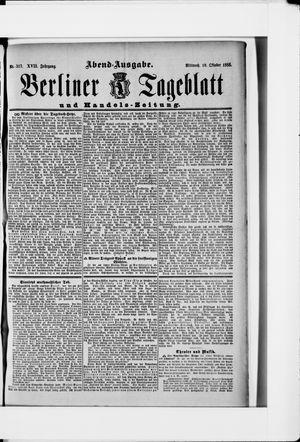 Berliner Tageblatt und Handels-Zeitung vom 10.10.1888