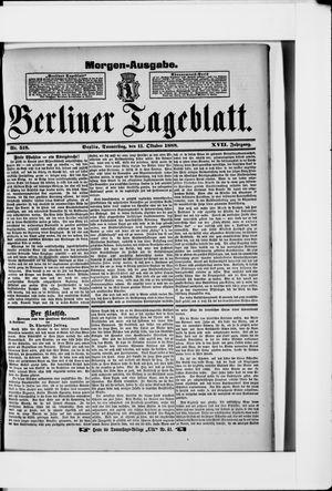 Berliner Tageblatt und Handels-Zeitung vom 11.10.1888