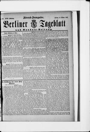 Berliner Tageblatt und Handels-Zeitung vom 12.10.1888