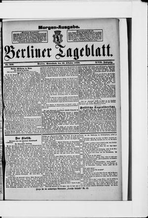 Berliner Tageblatt und Handels-Zeitung vom 13.10.1888