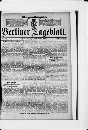 Berliner Tageblatt und Handels-Zeitung vom 14.10.1888
