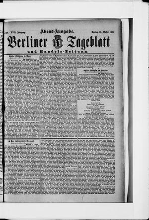 Berliner Tageblatt und Handels-Zeitung vom 15.10.1888