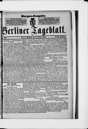 Berliner Tageblatt und Handels-Zeitung vom 17.10.1888
