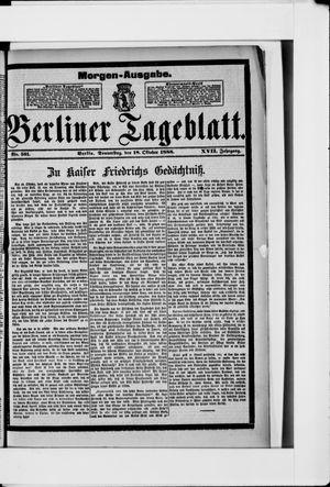 Berliner Tageblatt und Handels-Zeitung vom 18.10.1888