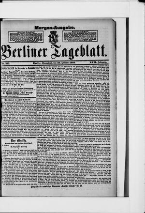 Berliner Tageblatt und Handels-Zeitung vom 20.10.1888