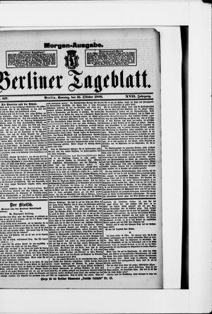 Berliner Tageblatt und Handels-Zeitung vom 21.10.1888