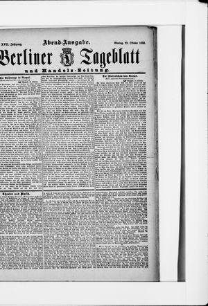 Berliner Tageblatt und Handels-Zeitung vom 22.10.1888