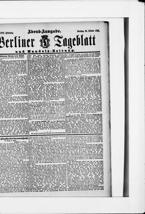 Berliner Tageblatt und Handels-Zeitung vom 23.10.1888