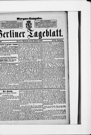 Berliner Tageblatt und Handels-Zeitung vom 24.10.1888