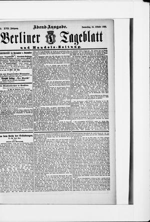 Berliner Tageblatt und Handels-Zeitung vom 25.10.1888