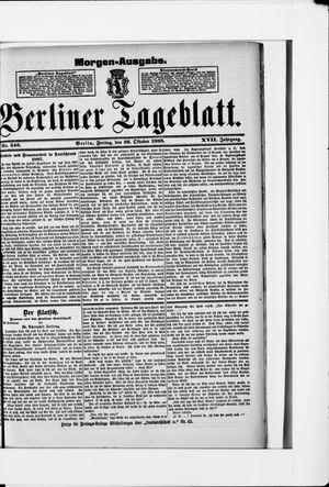 Berliner Tageblatt und Handels-Zeitung vom 26.10.1888