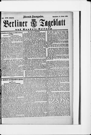 Berliner Tageblatt und Handels-Zeitung vom 27.10.1888