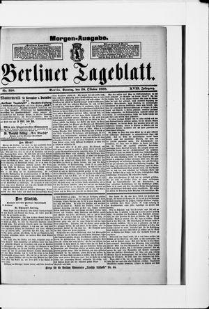 Berliner Tageblatt und Handels-Zeitung vom 28.10.1888