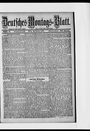 Berliner Tageblatt und Handels-Zeitung vom 29.10.1888