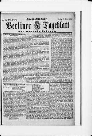Berliner Tageblatt und Handels-Zeitung vom 30.10.1888