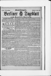 Berliner Tageblatt und Handels-Zeitung (31.10.1888)