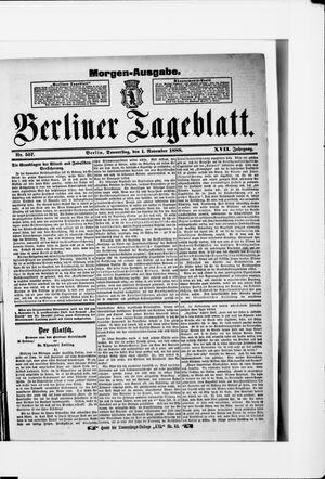 Berliner Tageblatt und Handels-Zeitung vom 01.11.1888