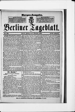 Berliner Tageblatt und Handels-Zeitung vom 02.11.1888