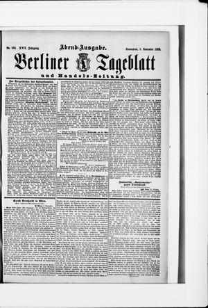 Berliner Tageblatt und Handels-Zeitung vom 03.11.1888