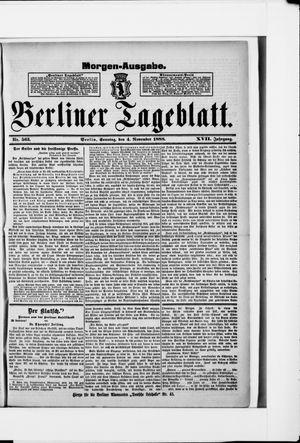 Berliner Tageblatt und Handels-Zeitung vom 04.11.1888