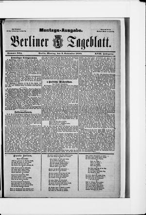Berliner Tageblatt und Handels-Zeitung vom 05.11.1888
