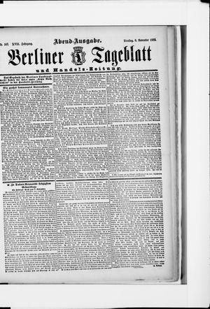 Berliner Tageblatt und Handels-Zeitung vom 06.11.1888