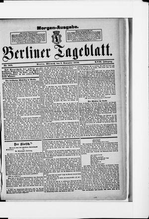 Berliner Tageblatt und Handels-Zeitung vom 07.11.1888