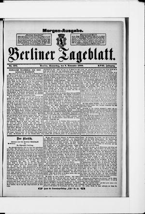 Berliner Tageblatt und Handels-Zeitung vom 08.11.1888