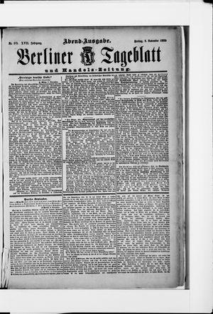 Berliner Tageblatt und Handels-Zeitung vom 09.11.1888